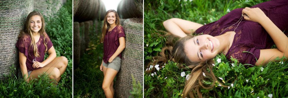 Country Senior Images by Katie Swatek Photography | Hay Bale Senior Images by Katie Swatek Photography