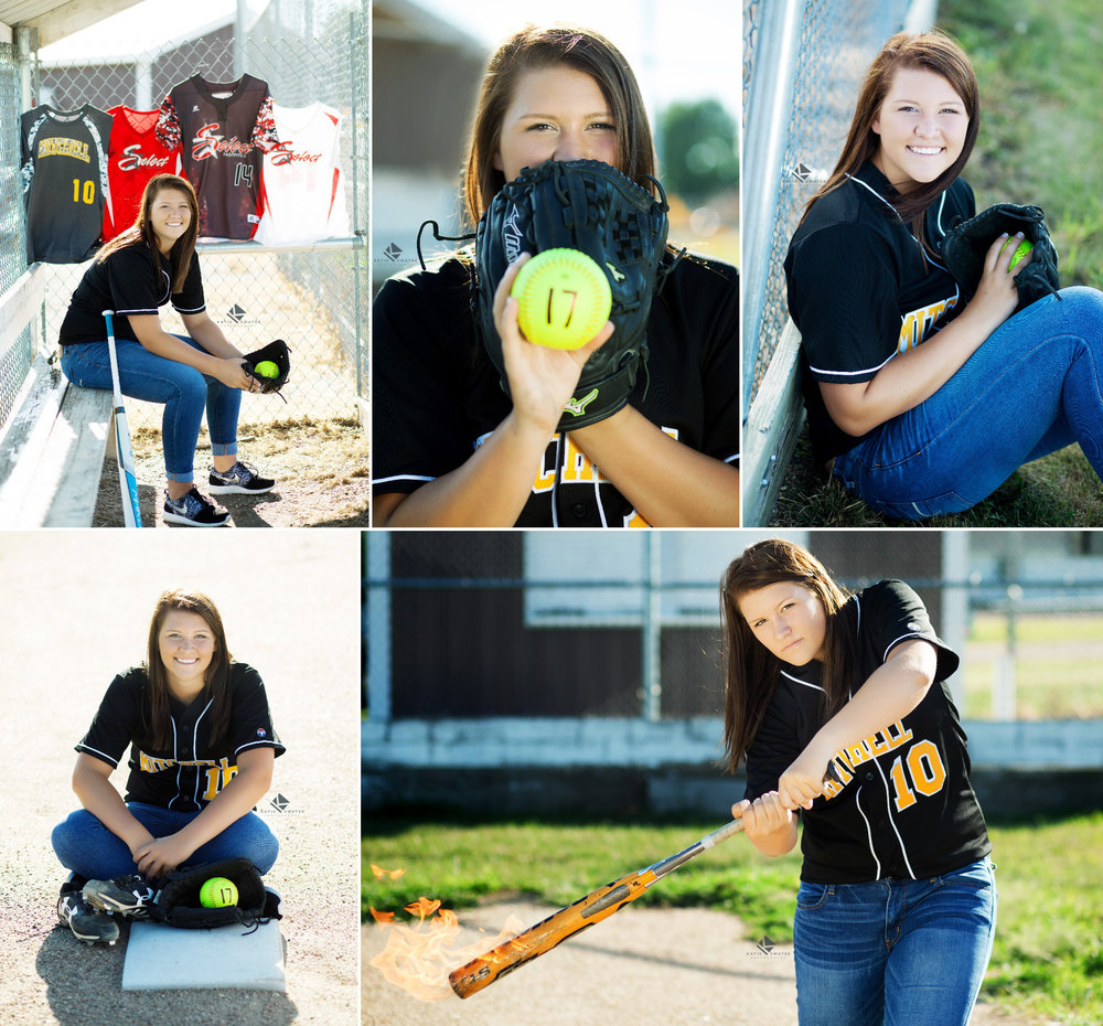 Softball Senior Images by Katie Swatek Photography | Bat on Fire Senior Images by Katie Swatek Photography