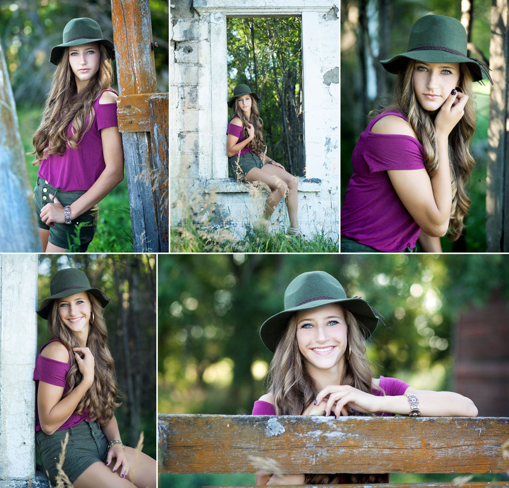Hat Senior Images by Katie Swatek Photography | Country Senior Images by Katie Swatek Photography