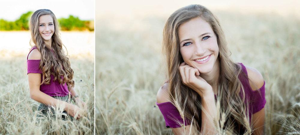 Wheatfield Senior Images by Katie Swatek Photography | Country Senior Images by Katie Swatek Photography