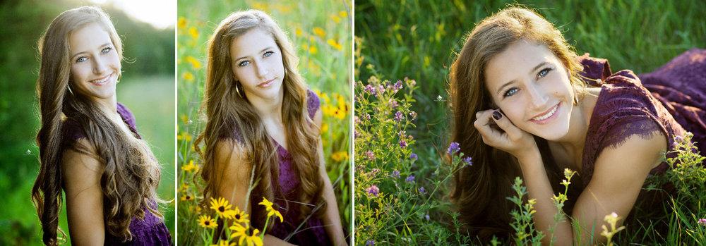 Wildflower Senior Images by Katie Swatek Photography | Sunset Senior Images by Katie Swatek Photography