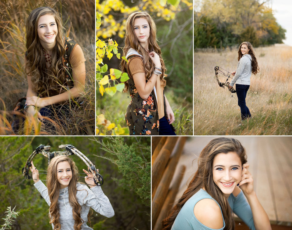 Fall Senior Images by Katie Swatek Photography | Archery Senior Images by Katie Swatek Photography | Bow Senior Images by Katie Swatek Photography