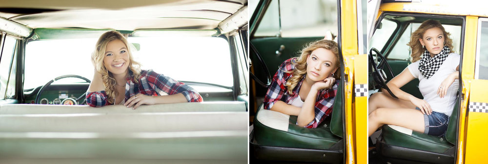 Taxicab Senior Images by Katie Swatek Photography | SD High School Senior Photographer