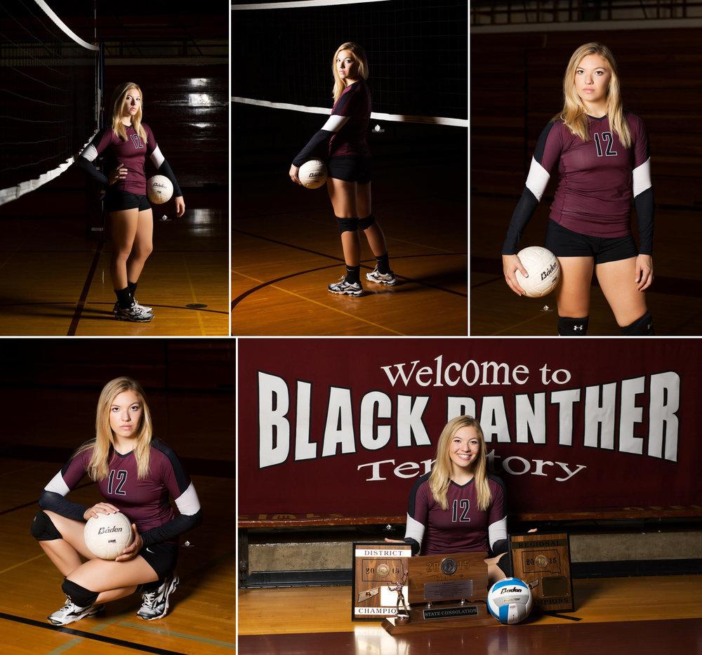 Volleyball Senior Pictures by Katie Swatek Photography | Sport Senior Pictures by Katie Swatek Photography | Gym Senior Pictures by Katie Swatek Photography | South Dakota Senior Pictures by Katie Swatek Photography
