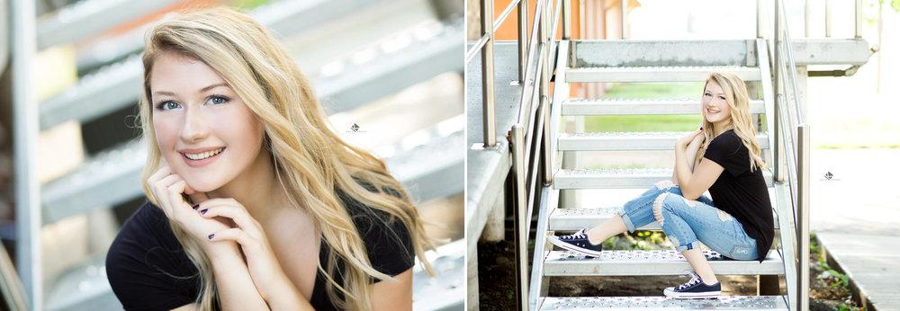 South Dakota Senior Pictures | Staircase Senior Pictures by Katie Swatek Photography | Urban Senior Pictures by Katie Swatek Photography