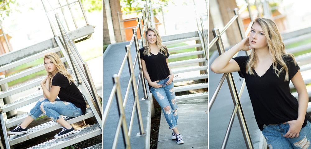 South Dakota Senior Pictures | Urban Senior Pictures by Katie Swatek Photography | Staircase Senior Pictures by Katie Swatek Photography
