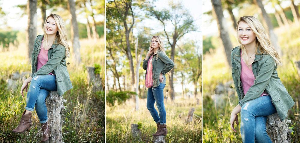 South Dakota Senior Pictures | Country Senior Pictures by Katie Swatek Photography | Tree Stump Senior Pictures by Katie Swatek Photography