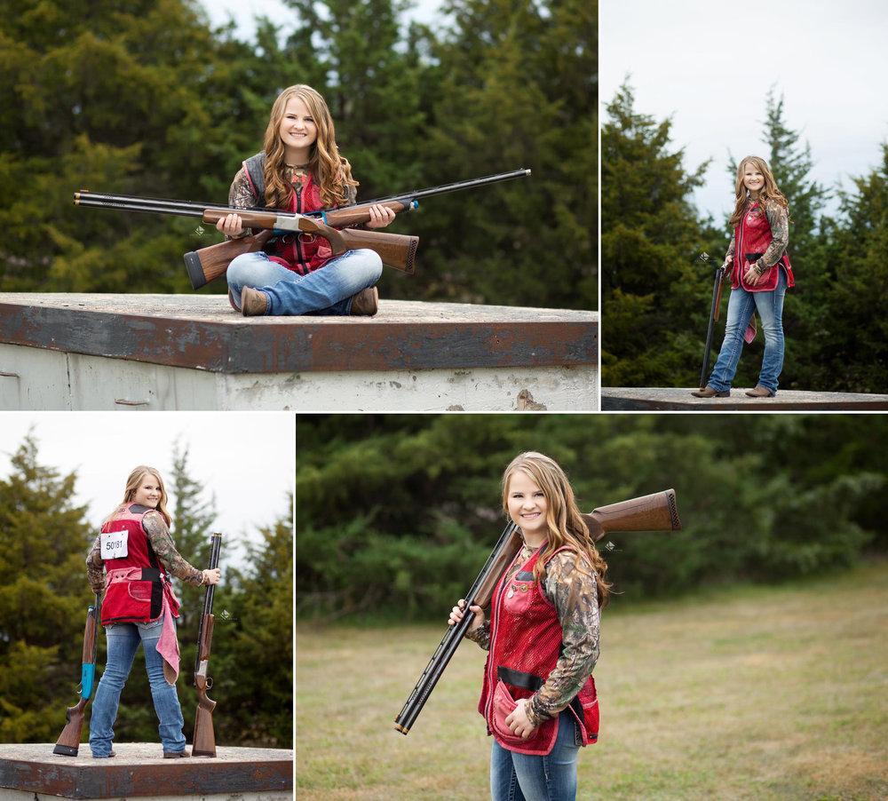 South Dakota Senior Pictures | Trap Shooting Senior Pictures by Katie Swatek Photography | Gun Senior Pictures by Katie Swatek Photography