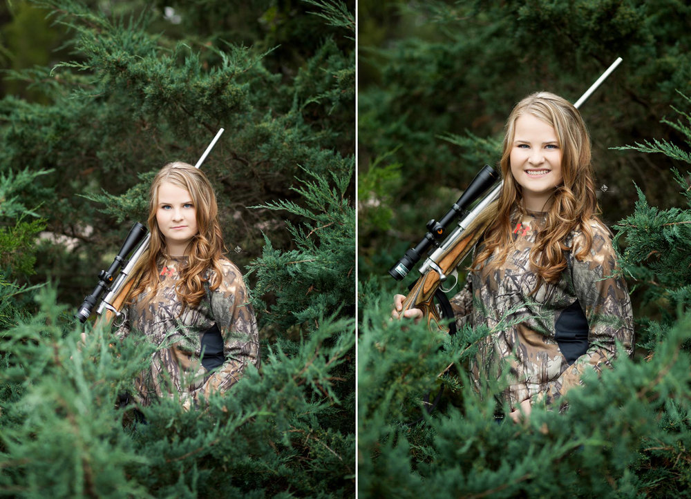 SD Senior Pictures | Gun Senior Pictures by Katie Swatek Photography | Hunting Senior Pictures by Katie Swatek Photography