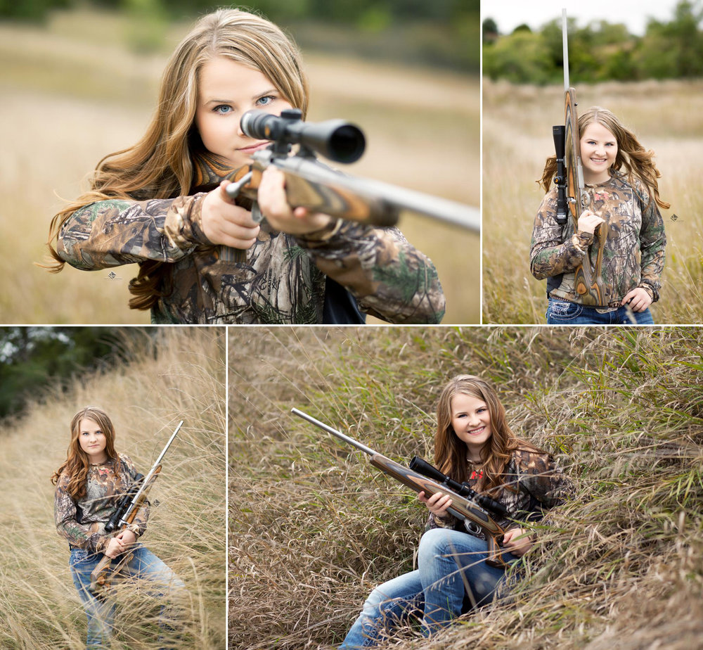 Senior Pictures in SD | Gun Senior Pictures by Katie Swatek Photography | Hunting Senior Pictures by Katie Swatek Photography