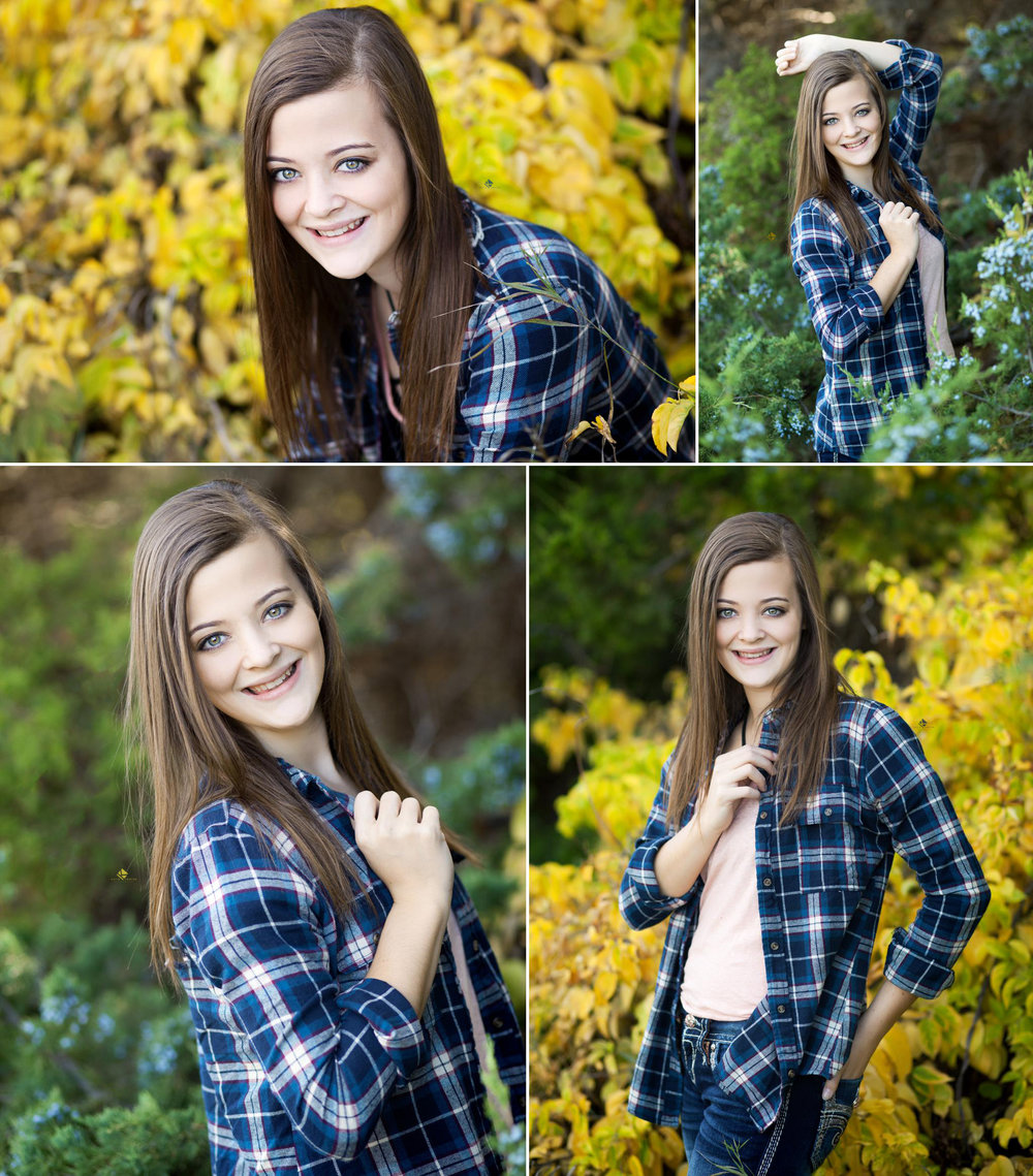 Senior Pictures in South Dakota | Fall Senior Pictures by Katie Swatek Photography | Flannel Shirt Senior Pictures by Katie Swatek Photography