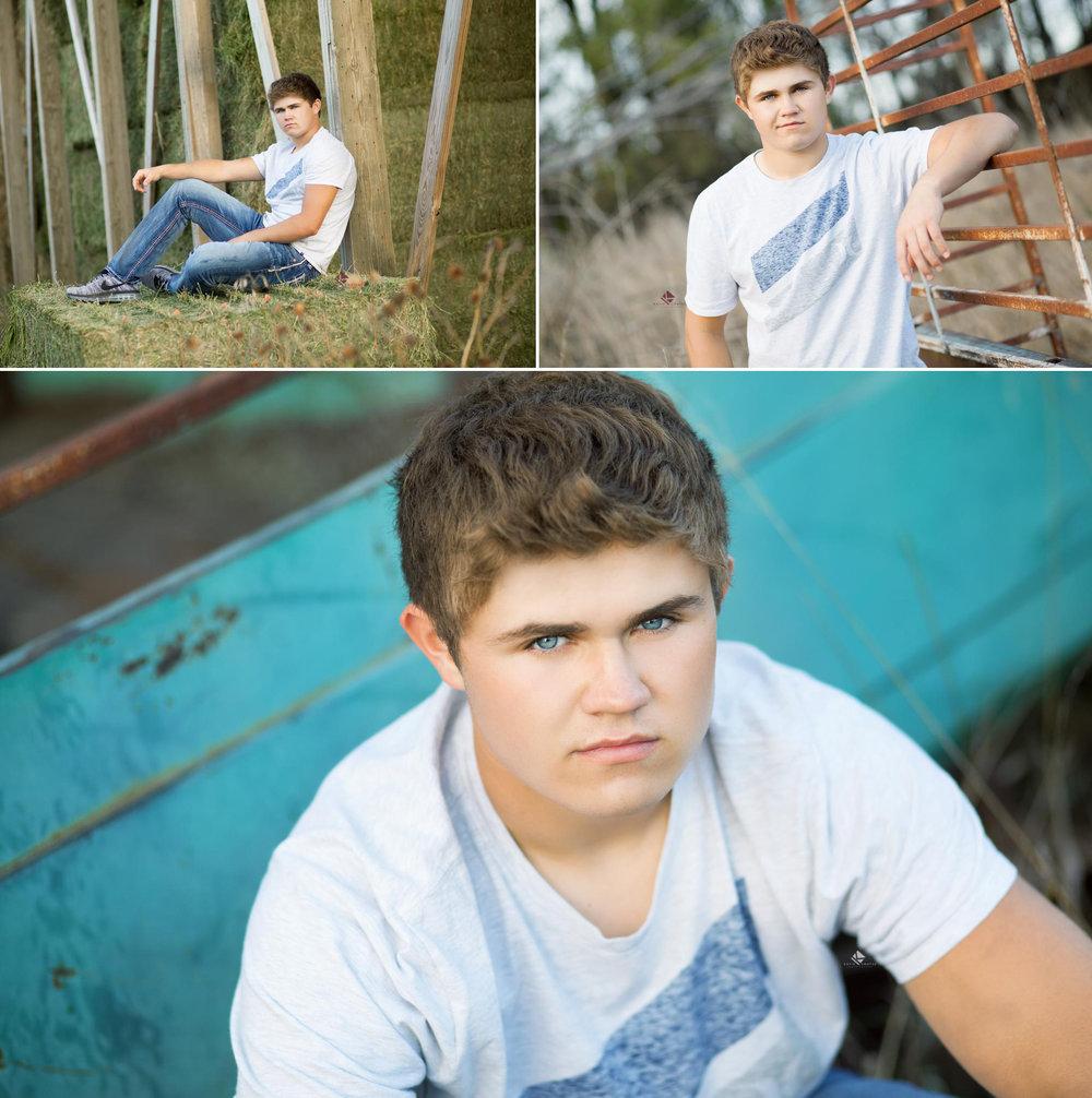 South Dakota Senior Picture Photographer | Guy Senior Pictures by Katie Swatek Photography | Old Car Senior Pictures by Katie Swatek Photography