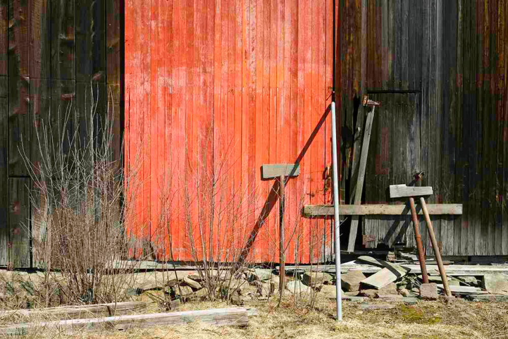 Barn with Red Door Details