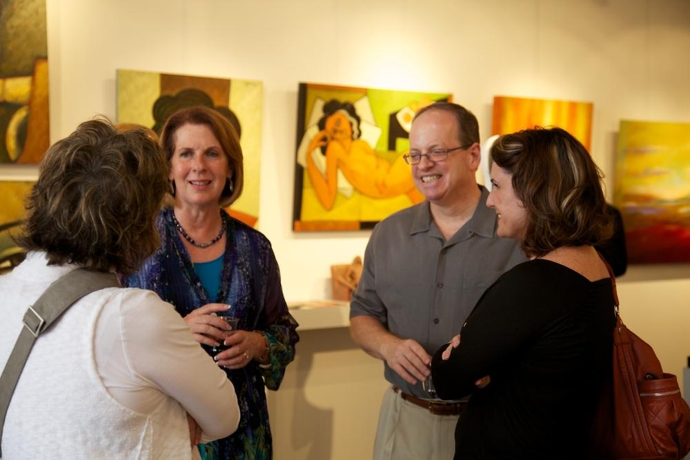 From left: Sharon Allard, VP of Allard & Roberts Interior Design, gallery president, Margaret Offermann, gallery chairman, Russell Medford, and Talli Robers, President of Allard & Roberts Interior Design