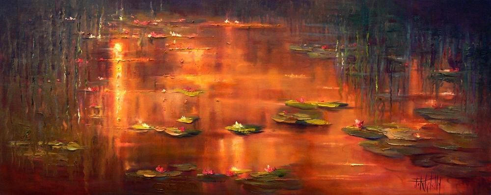 Golden Moment, Water Lilies