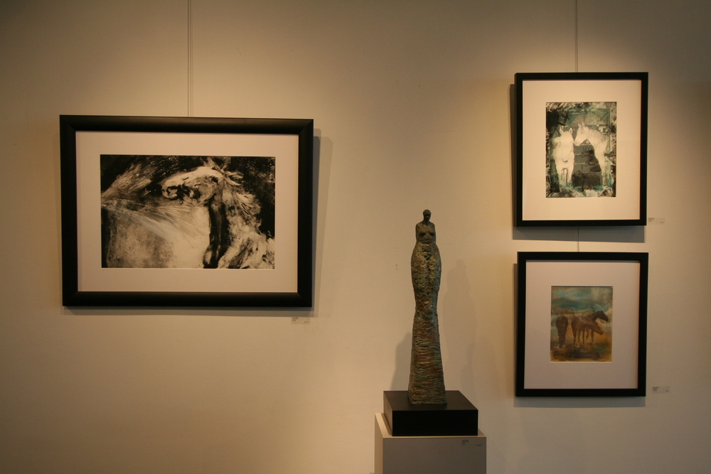 New monotypes by  Alyson Markell , sculpture by  Amy Medford