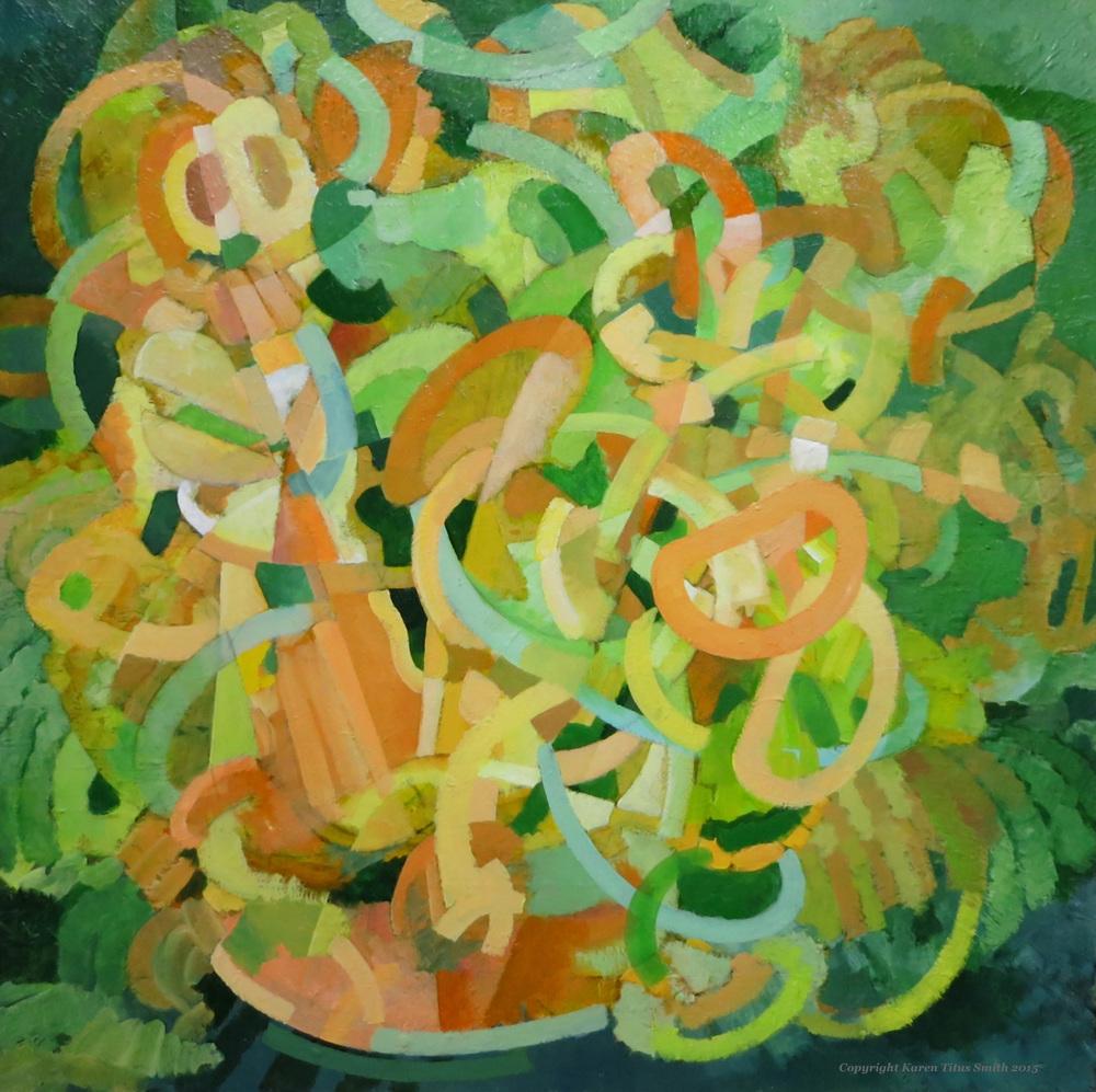"""Karen Titus Smith, AB Plant, Acrylic on canvas, 42"""" x 42"""""""