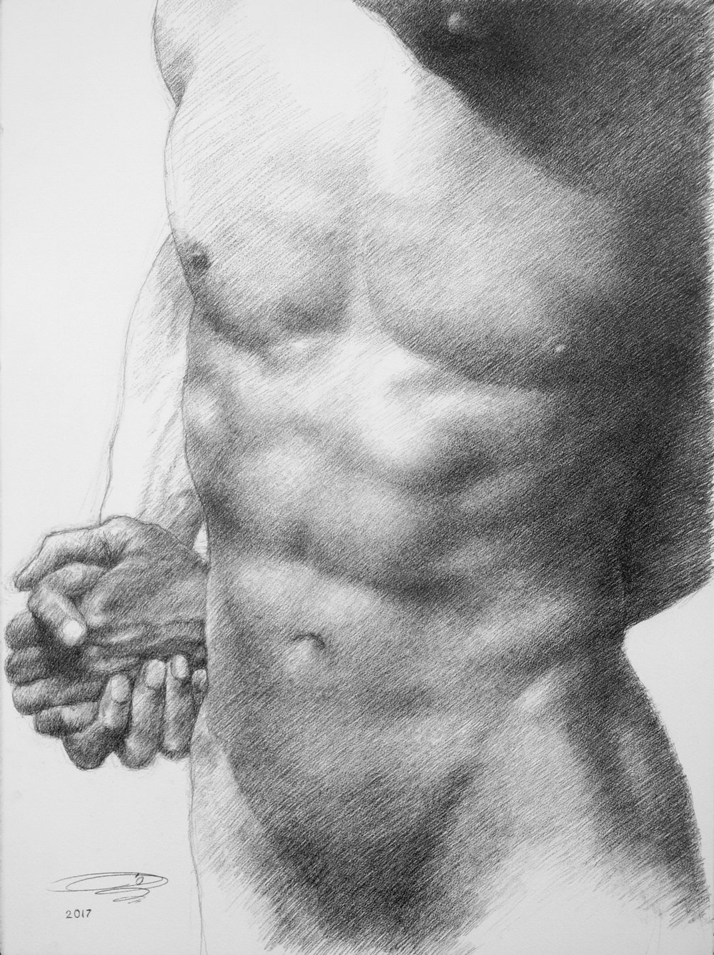 "Pencil on Paper  30""H x 22""W"