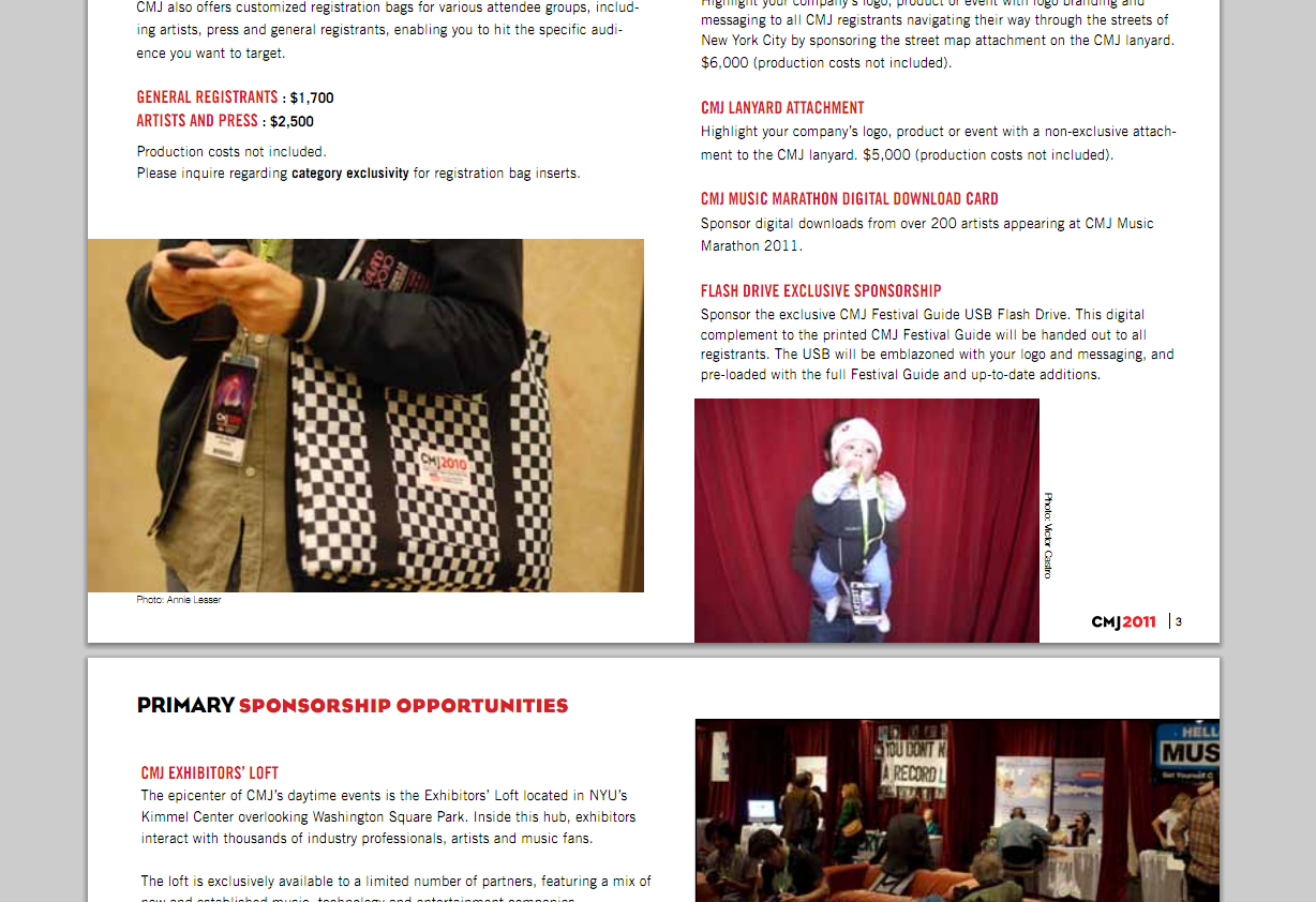 So being I work in music I do at least 3 conferences a year of which 3 G tagged along to in 2010. This morning I was peeking at the marketing packet for CMJ coming up next month and look who's picture is in there…a baby Baby G! I swear kid you're gonna be a star.