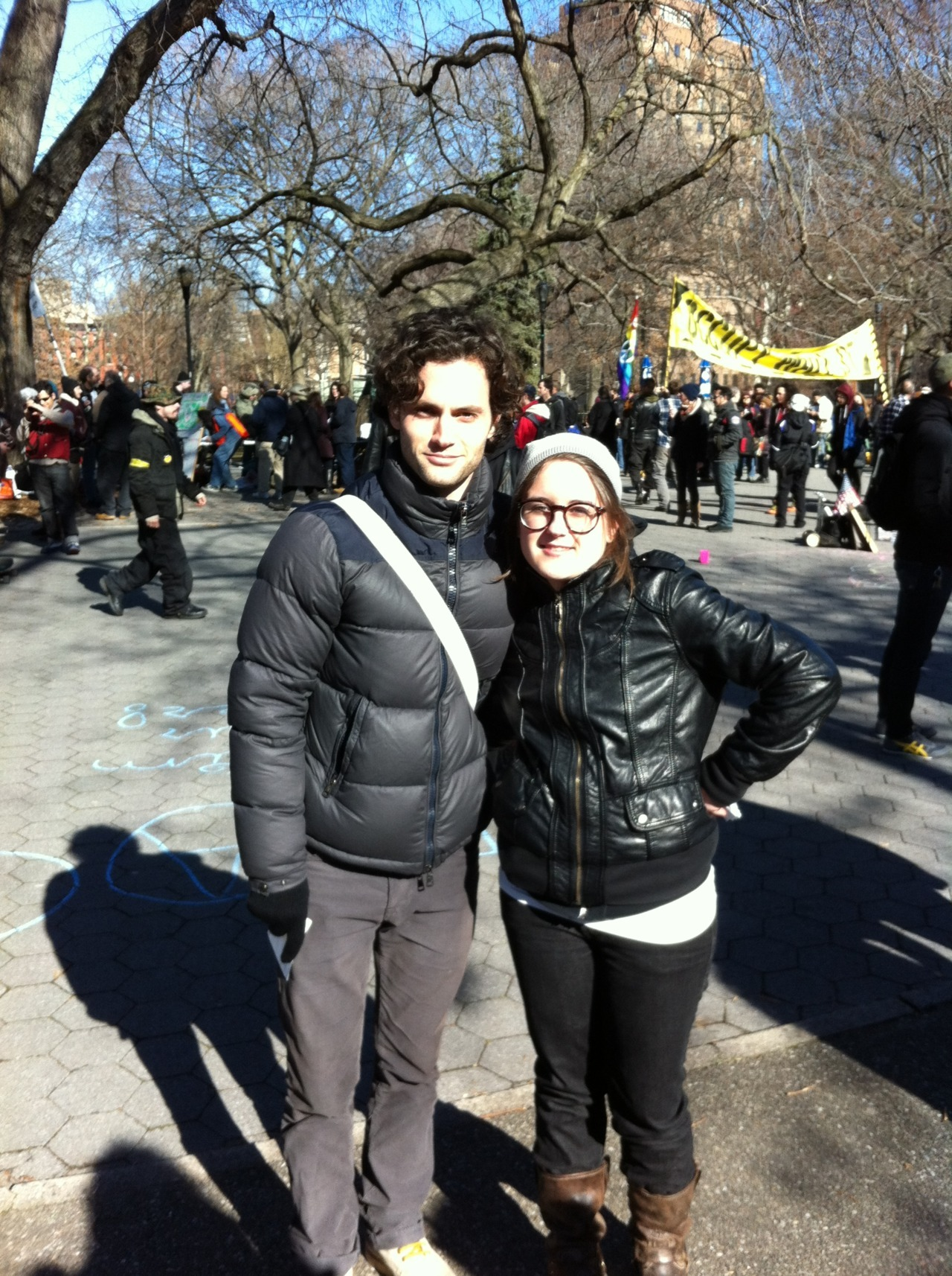 """A certain """"Dan Humphrey"""" stopped by the Parents for Occupy Wall St area at the OWS Town Square this weekend. Did I turn into a giggling little girl…you bet."""