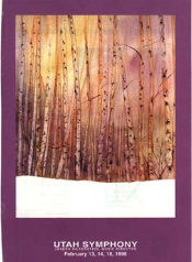 Utah Symphony Program Cover  February 1998