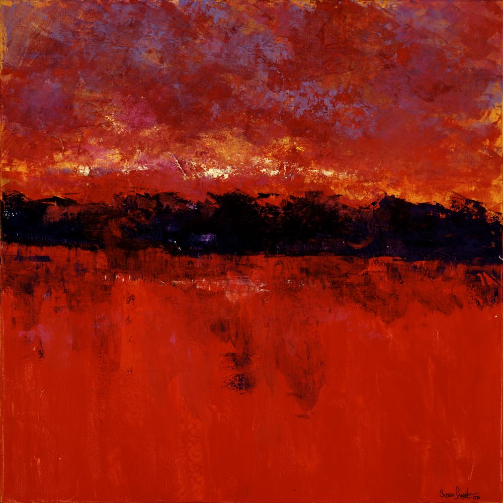 Crimson Reflections 36 x 36