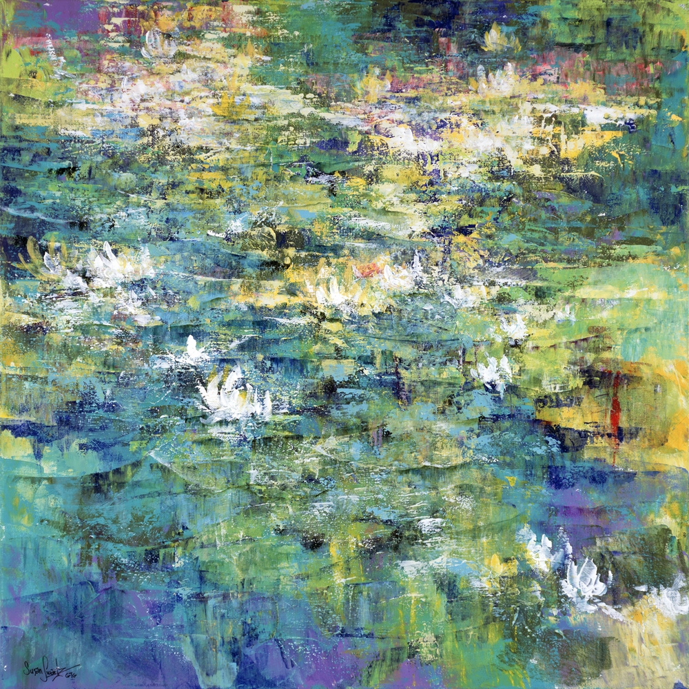 Lilies on the Pond 36 x 36