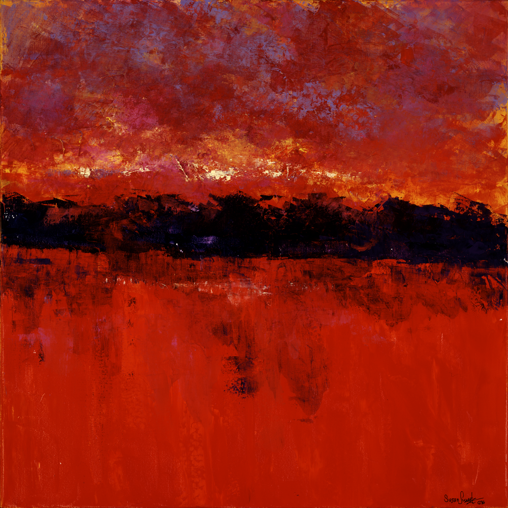 Crimson Reflections 36 x 36