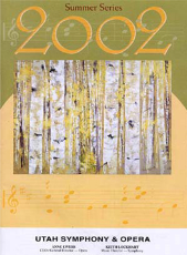 Utah Symphony Program Cover August 2002