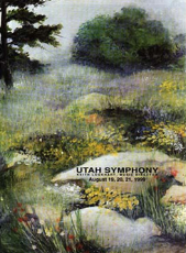 Utah Symphony Program Cover  August 1999
