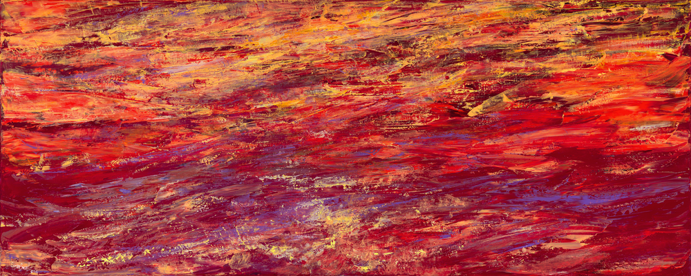 Water Study 009  60 x 24  Acrylic on Linen