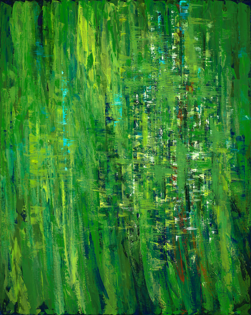Emerald Spirit  48 x 60 in, 121.92 x 152.4 cm