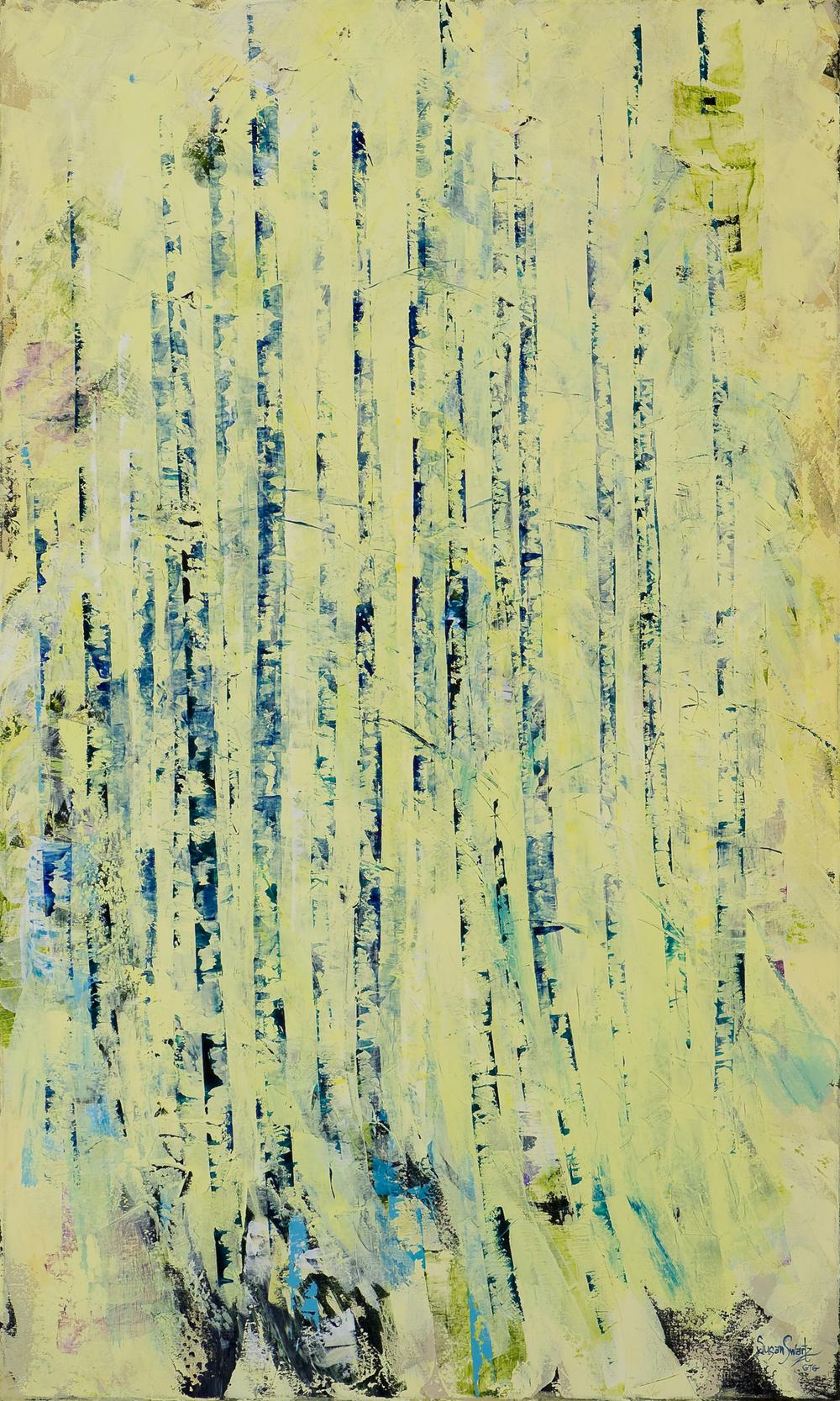 Azure Rhythm  36 x 60 in, 91 x 152 cm