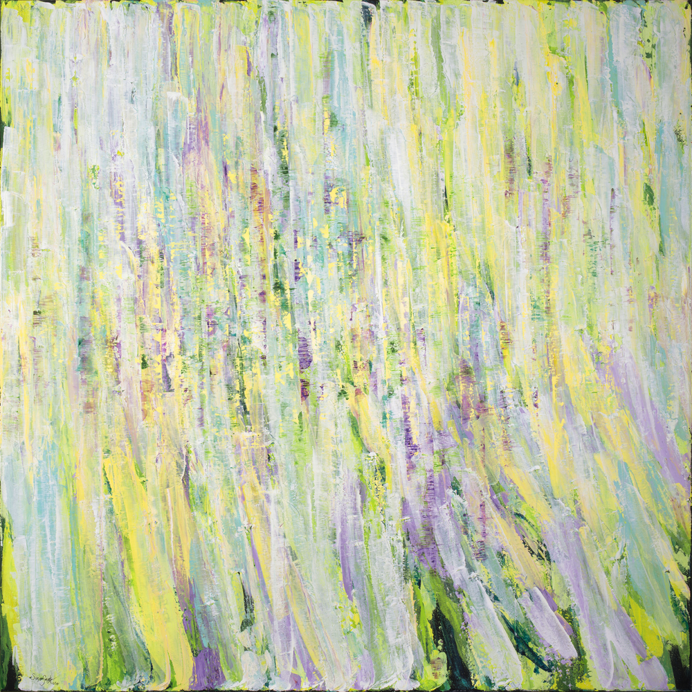 Whisper of Spring II  60 x 60 in, 152 x 152 cm