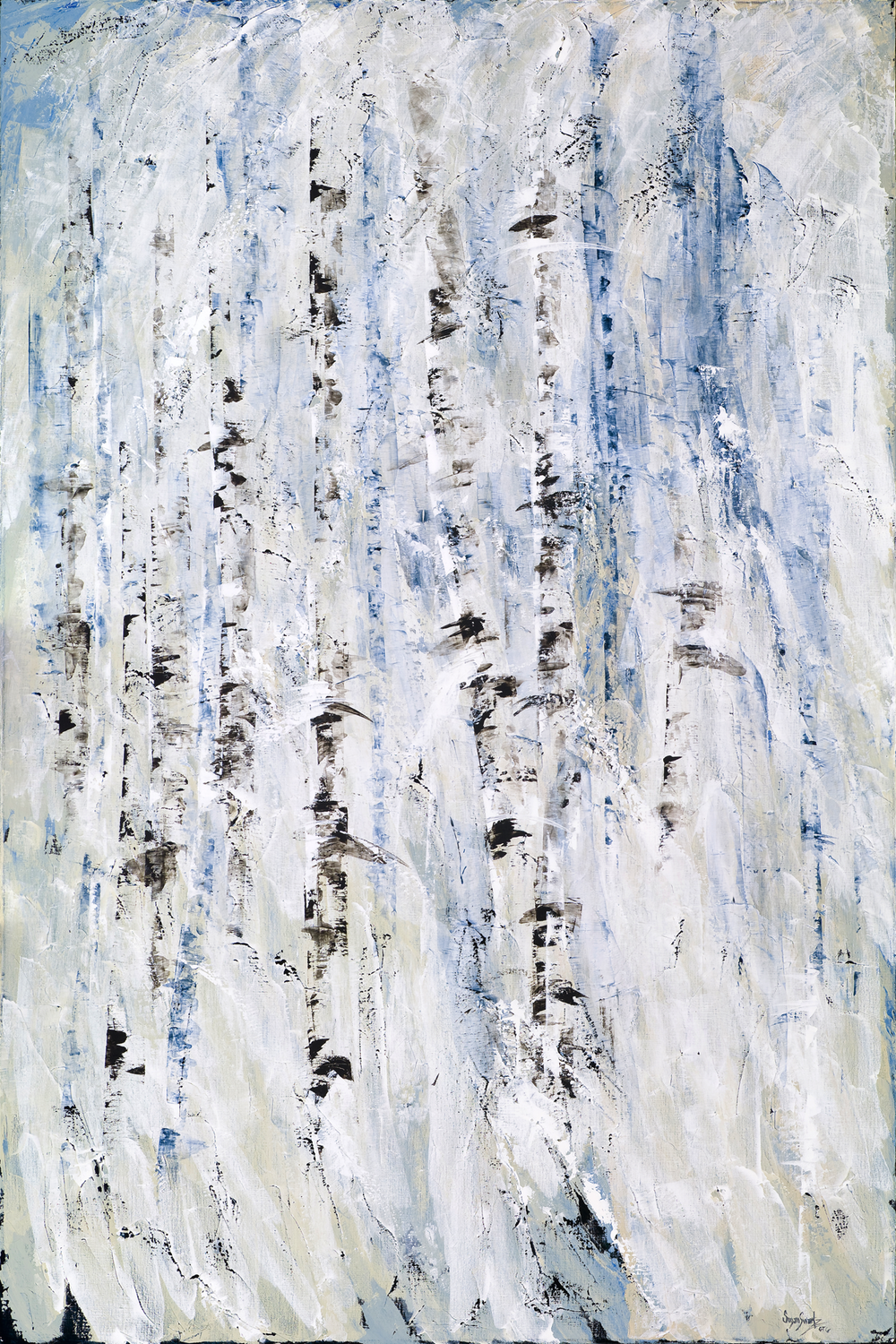 Winter's Hush III  48 x 72 in, 122 x 183 cm