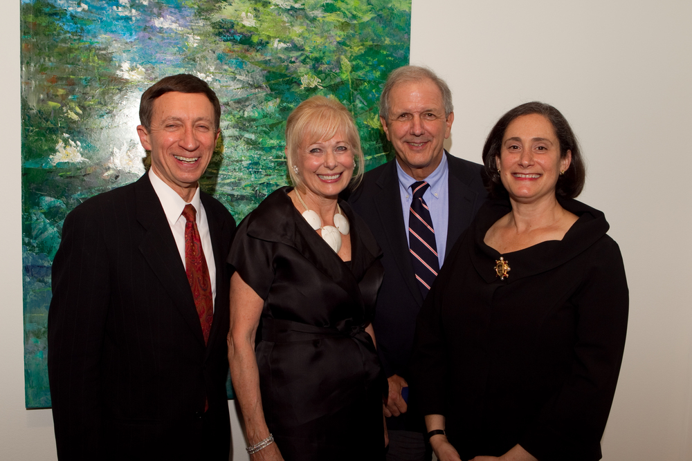 W. Graham, S. Swartz, Charilie Gibson, Susan Sterling NMWA opening 17 June 11.jpg