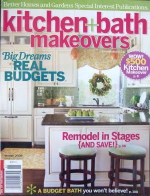 Winter 2009 Kitchen and Bath Makeovers magazine