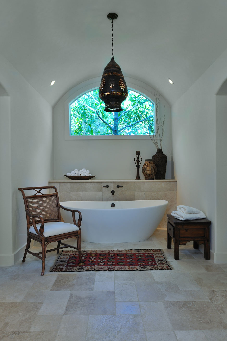 A Home Full Of Treasures  DESIGNED - Wall faucet for freestanding tub