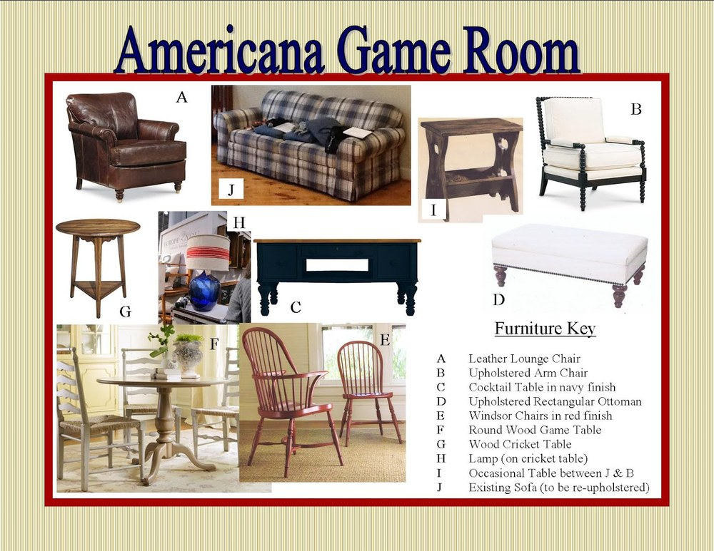Storyboard - Americana Style Gameroom, Click image to enlarge