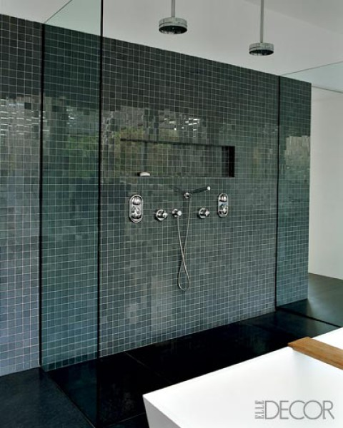 Link love 11 images of bathrooms bathed in beautiful for Elle bathroom designs
