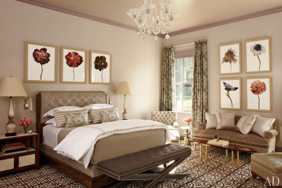 Featured in article Analyzed & Admired | The Interior Designs of Steven Gambrel  LINK ➤ http://carlaaston.com/designed/analyzed-admired-steven-gambrel-interior-designer | Tags: #bedroom, #art, #pattern, #neutral #lamp | Image found @ Love Is Speed