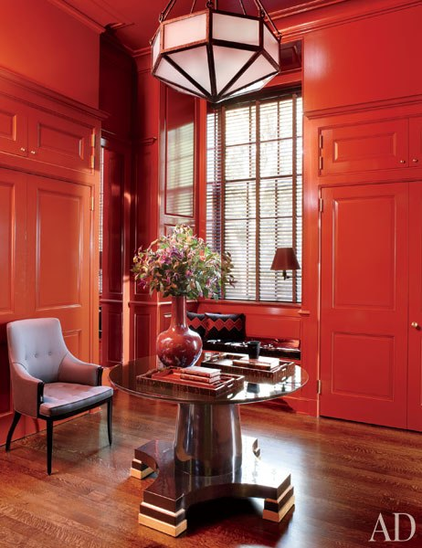 Article | Analyzed & Admired | The Interior Designs of Steven Gambrel  LINK ➤ http://carlaaston.com/designed/analyzed-admired-steven-gambrel-interior-designer | Tags: #wood, #floor, #red, #table | Image source: Architectural Digest