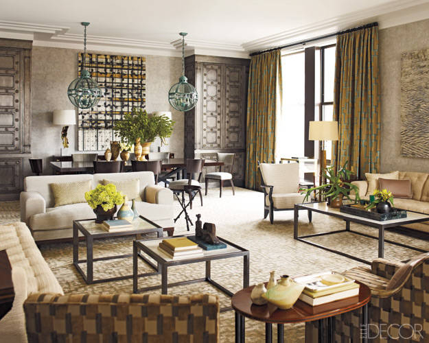Article | Analyzed & Admired | The Interior Designs of Steven Gambrel  LINK ➤ http://carlaaston.com/designed/analyzed-admired-steven-gambrel-interior-designer | Tags: #living #room, #pattern | Image source: Elle Decor