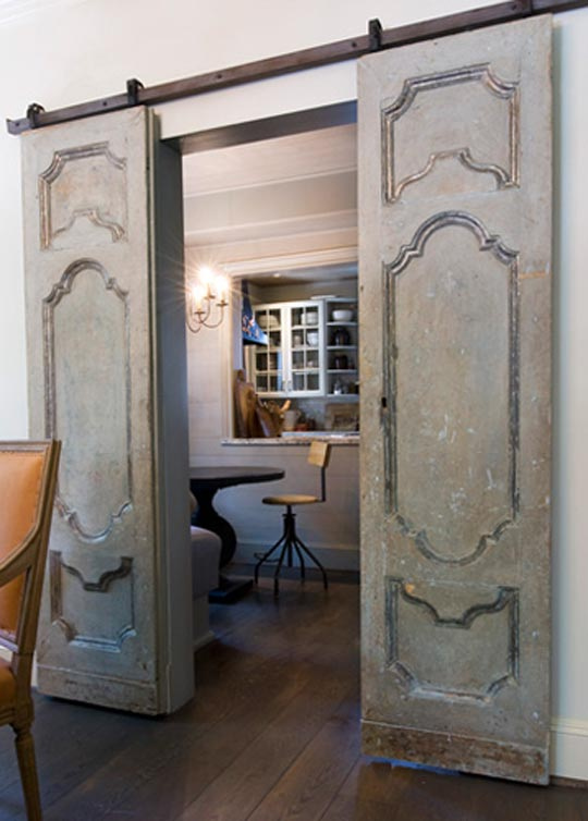 ARTICLE: Reclaimed Doors - Design's Entryway Into Yesterday | Image Source: Greige Design | CLICK LINK TO READ... http://carlaaston.com/designed/reclaimed-door-design-entryway-to-yesterday