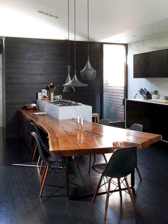 ARTICLE: Reclaimed, Refined, Remarkable | Loving a Live Edge | Image Source: Dwell | CLICK TO READ... http://carlaaston.com/designed/loving-live-reclaimed-wood-edge