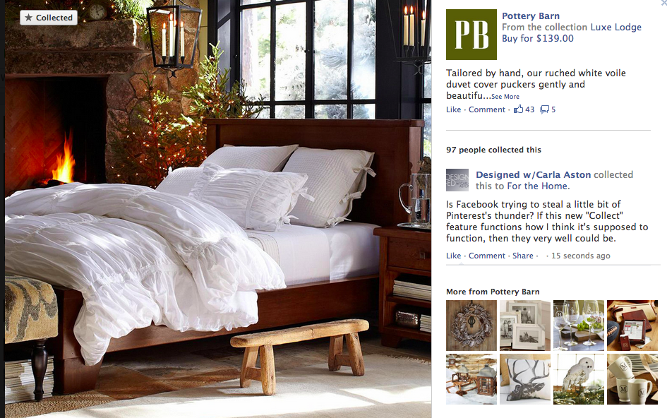Click here to see what Pottery Barn's new Facebook Shop looks like
