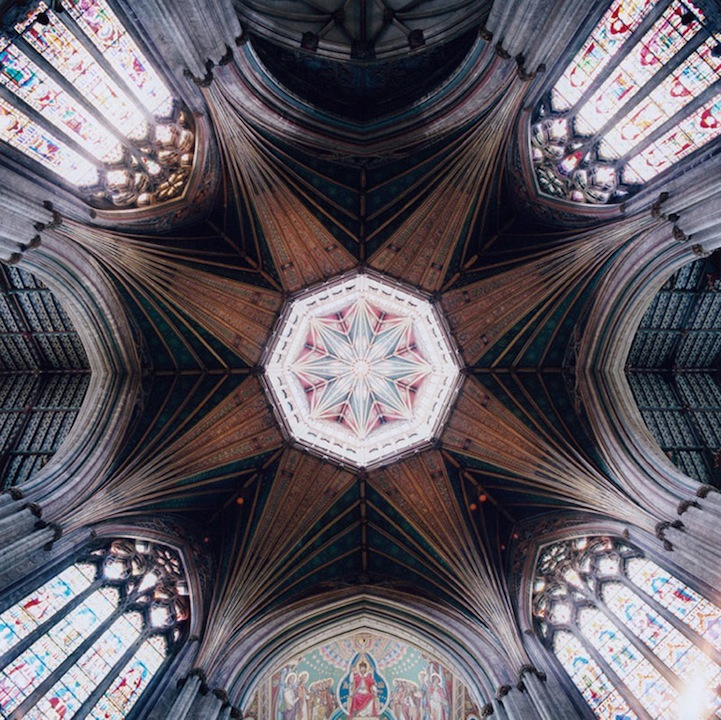 ARTICLE + GALLERY: Vaulted Ceilings So Dizzyingly Beautiful, Experiencing Them Feels 'Hallucinogenic' | Image Source: DavidStephenson.com | CLICK TO READ... http://carlaaston.com/designed/david-stephenson-vault-ceiling-photos | (KWs: David Stephenson, vault, ceiling, church, design, photography)