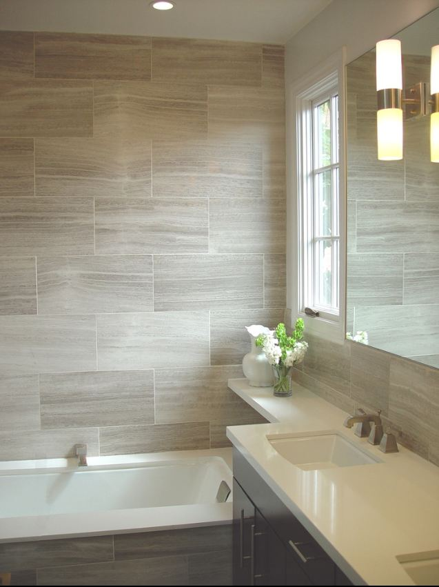 ARTICLE & GALLERY | Vein-Cut Stone - Like The Ocean, Its Effortless Flow Soothes With A Zen-Like Ambience | Image Source: Recently Rimini | CLICK TO ENJOY... http://carlaaston.com/designed/vein-cut-stone-texture-with-zen-ambience | (KWs: texture, design, bathroom, flooring, wall)