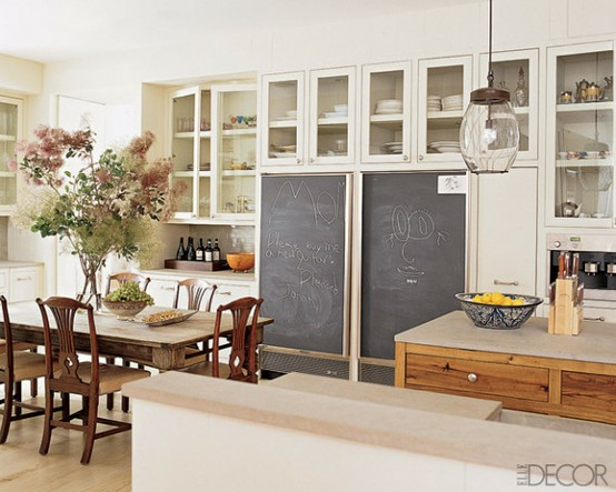 ARTICLE & GALLERY | Chalkboards - They're Not Just For Teachers And Students Anymore| Image Source: NAME | CLICK TO ENJOY... http://carlaaston.com/designed/chalkboard-wall-interior-design-classic