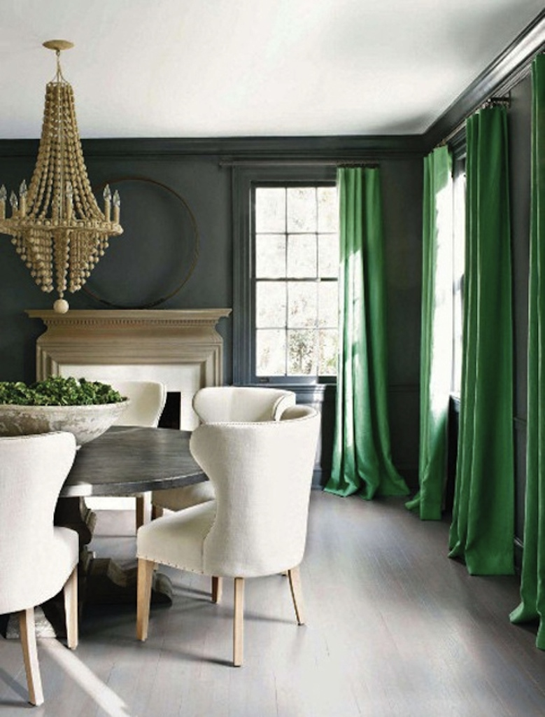 From the dining room on the same Kay Douglass project . . . The color speaks again.